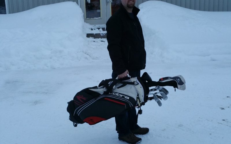And they say it never snows on a golf course….