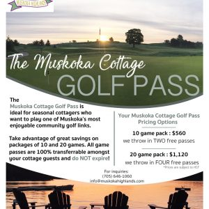 muskoka highlands golf pass