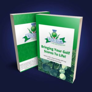 Bringing Your Golf Scores To Life Ebook Cover Blue Bg