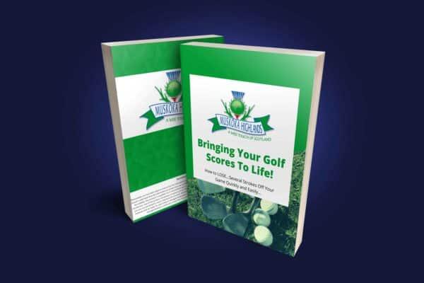 Bringing Your Golf Scores To Life Ebook Cover Blue Bg