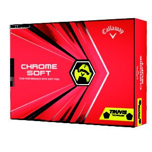 Chrome Soft Golf Ball 2020 Truvis Yellow Black Packaging I